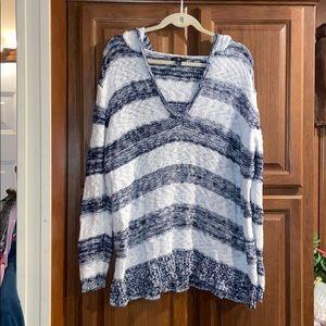 Gap striped  plus Size hooded sweater XXL
